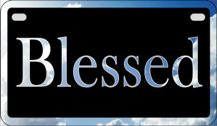 Blessed Clouds Novelty Metal Motorcycle Plate MP-4231