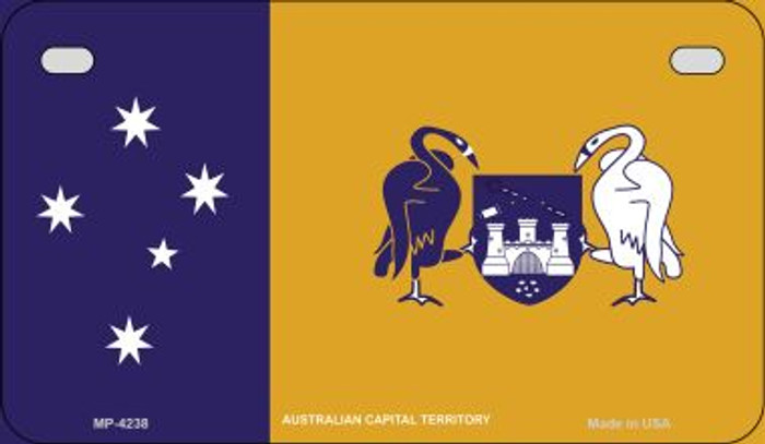 Australian Capital Flag Novelty Metal Motorcycle Plate MP-4238
