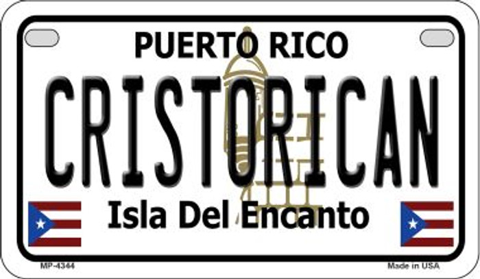 Cristorican Puerto Rico Novelty Metal Motorcycle Plate MP-4344