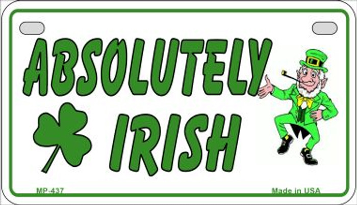 Absolutely Irish Novelty Metal Motorcycle Plate MP-437