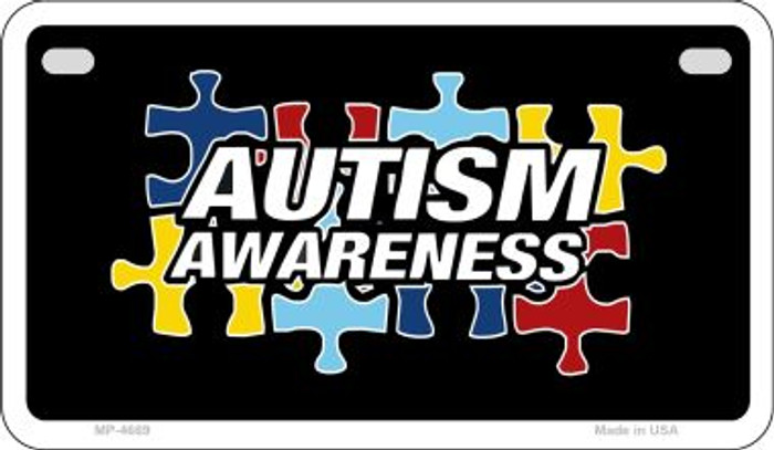 Autism Awareness Puzzle Novelty Metal Motorcycle Plate MP-4669