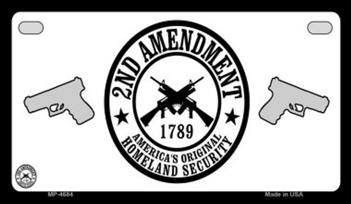 2nd Amendment Novelty Metal Motorcycle Plate MP-4684