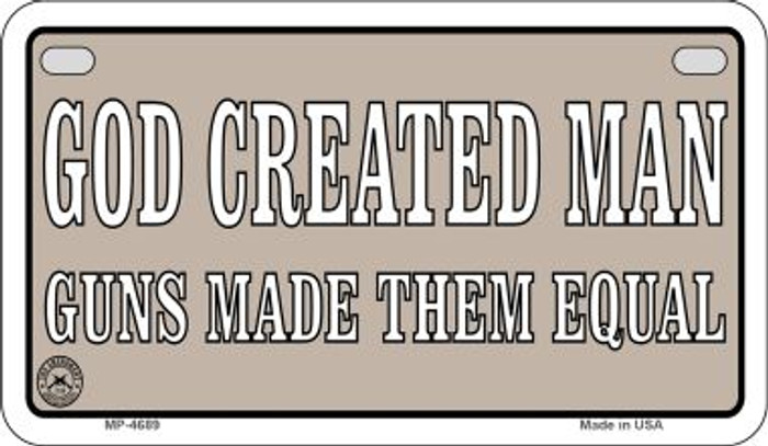 God Created Man Novelty Metal Motorcycle Plate MP-4689