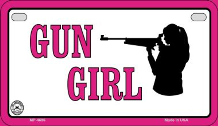 Gun Girl Novelty Metal Motorcycle Plate MP-4696