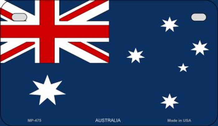 Australia Flag Novelty Metal Motorcycle Plate MP-475