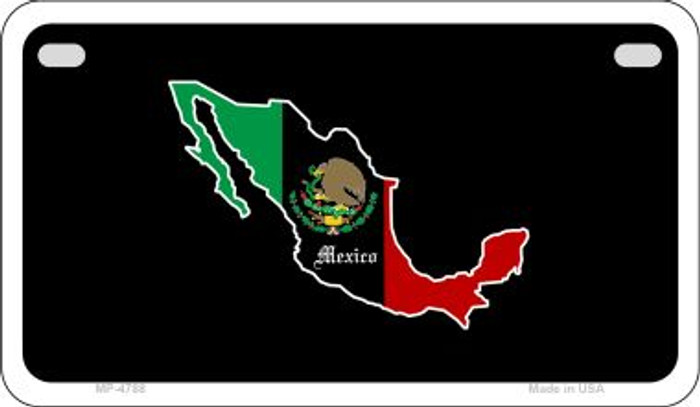 Mexico Outline Novelty Metal Motorcycle Plate MP-4788