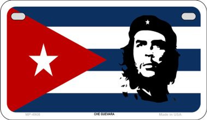 Che Guevara Flag Novelty Metal Motorcycle Plate MP-4908