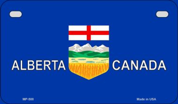 Alberta Canada Flag Novelty Metal Motorcycle Plate MP-500