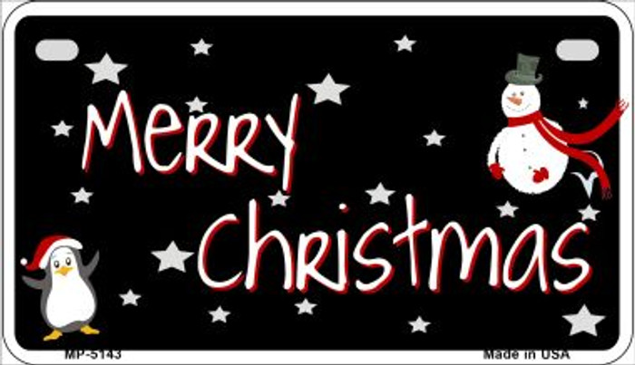 Merry Christmas Novelty Metal Motorcycle Plate MP-5143