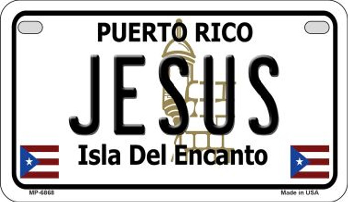 Jesus Puerto Rico Novelty Metal Motorcycle Plate MP-6868