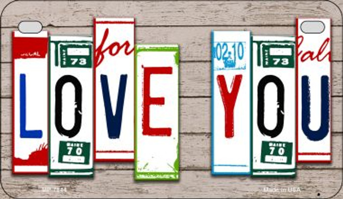 Love You Plate Art Novelty Metal Motorcycle Plate MP-7844