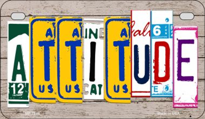 Attitude Plate Art Novelty Metal Motorcycle Plate MP-7846