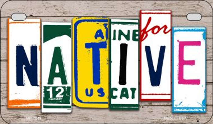 Native Plate Art Novelty Metal Motorcycle Plate MP-7849