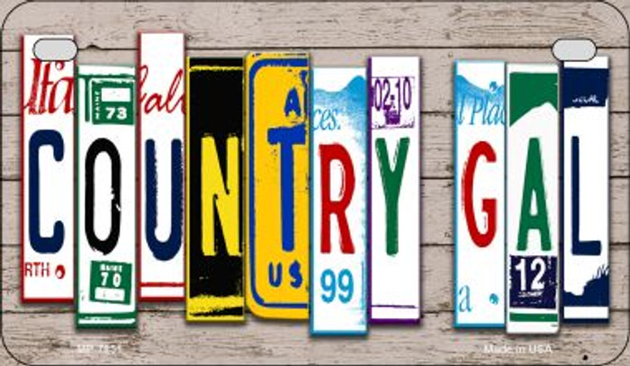 Country Gal Plate Art Novelty Metal Motorcycle Plate MP-7851