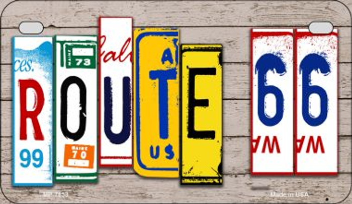 Route 66 License Plate Art Novelty Metal Motorcycle Plate MP-7853