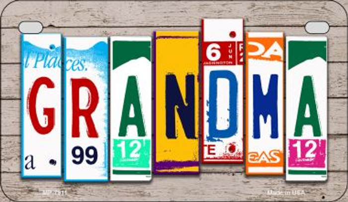 Grandma Plate Art Novelty Metal Motorcycle Plate MP-7911