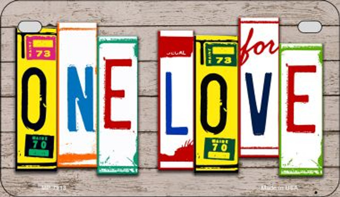 One Love Plate Art Novelty Metal Motorcycle Plate MP-7913