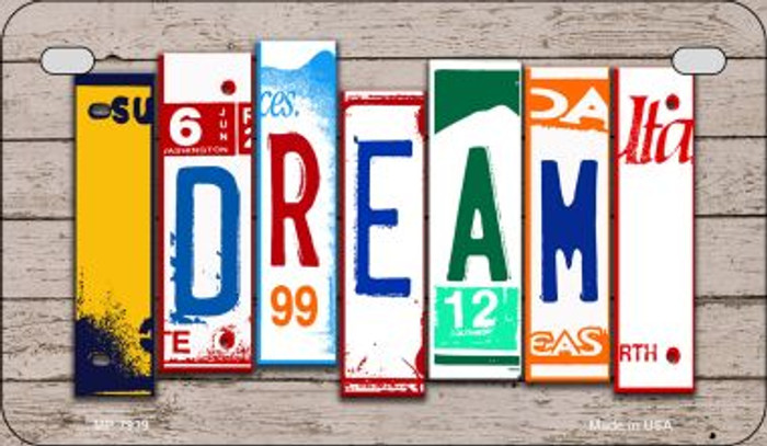 Dream Plate Art Novelty Metal Motorcycle Plate MP-7939