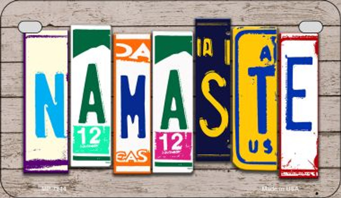 Namaste Plate Art Novelty Metal Motorcycle Plate MP-7944