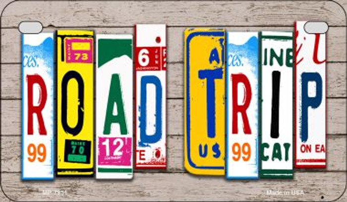 Road Trip Plate Art Novelty Metal Motorcycle Plate MP-7951