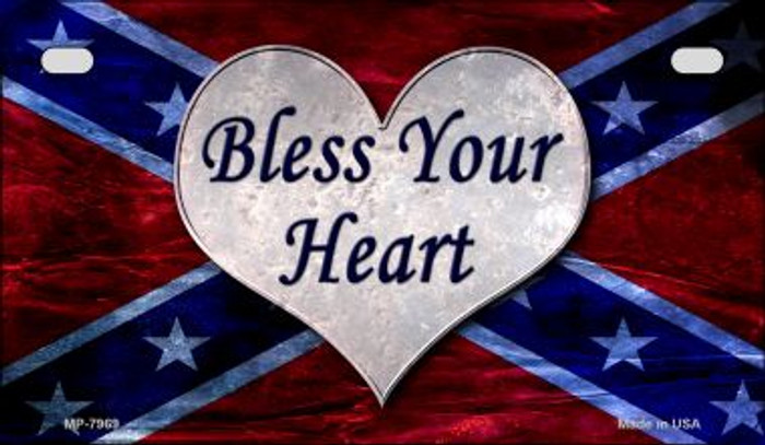 Bless Your Heart Novelty Metal Motorcycle Plate MP-7969