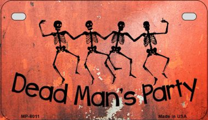 Dead Mans Party Novelty Metal Motorcycle Plate MP-8011
