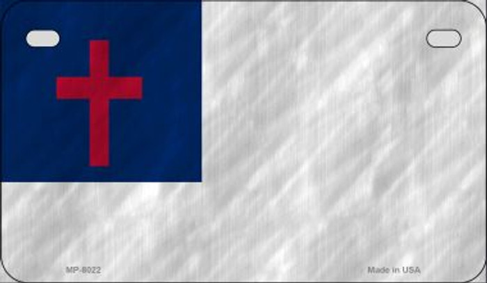 Christian Flag Novelty Metal Motorcycle Plate MP-8022