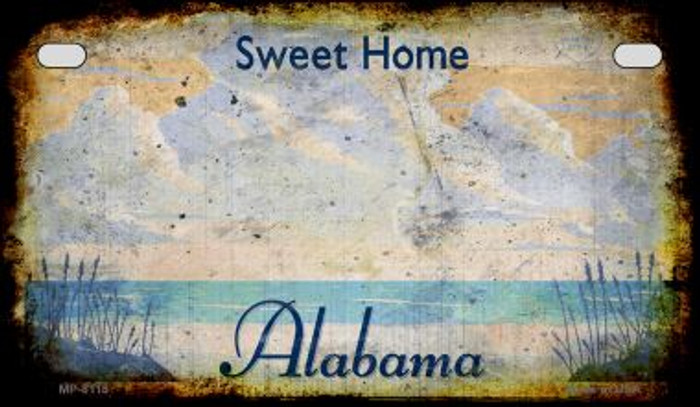 Alabama Rusty Blank Novelty Metal Motorcycle Plate MP-8118