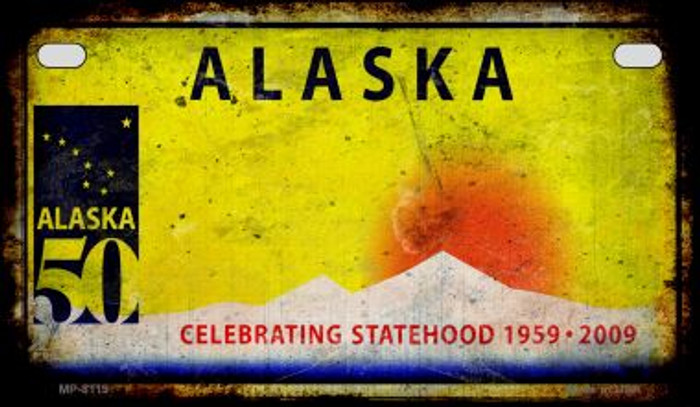 Alaska Rusty Blank Novelty Metal Motorcycle Plate MP-8119