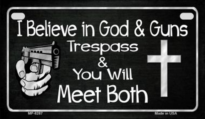 God and Guns Motorcycle Plate MP-8287