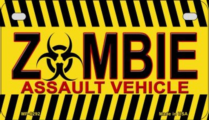 Zombie Assault Vehicle Novelty Metal Motorcycle Plate MP-8292