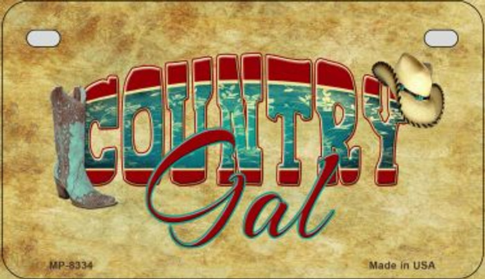 Country Gal Novelty Metal Motorcycle Plate MP-8334