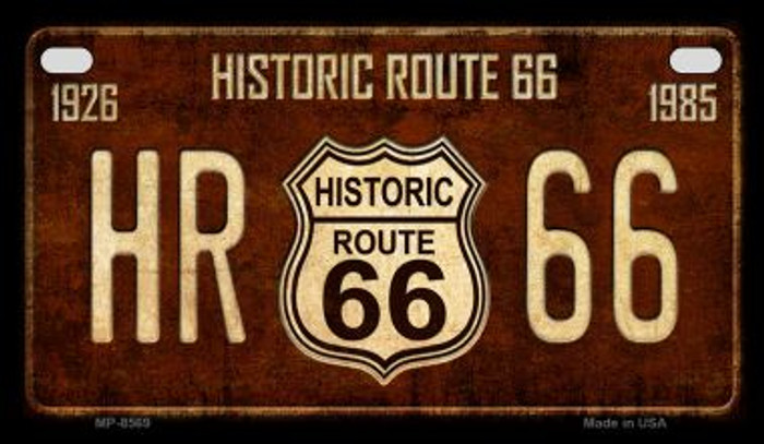 Route 66 Historic Vintage Novelty Metal Motorcycle Plate MP-8569