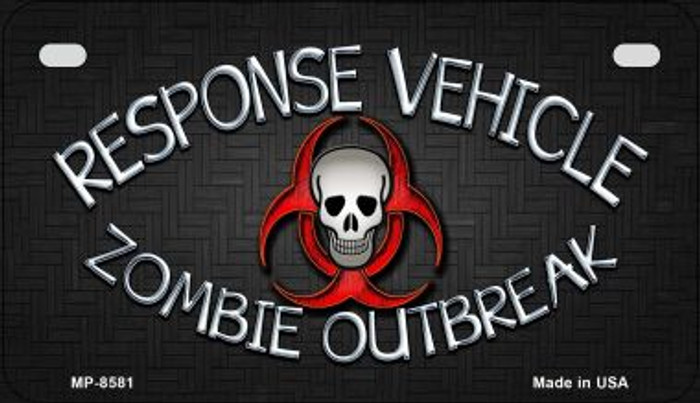 Response Vehicle Novelty Metal Motorcycle Plate MP-8581
