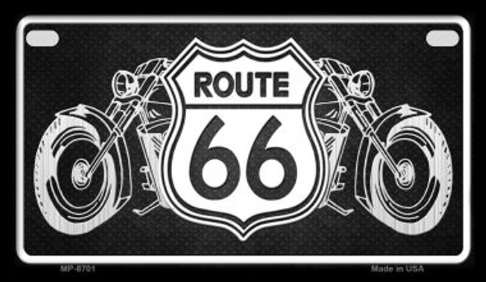Route 66 Bikes Novelty Metal Motorcycle Plate MP-8701