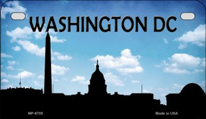 Washington DC Silhouette Novelty Metal Motorcycle Plate MP-8705