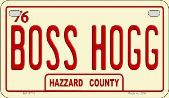 Boss Hogg Novelty Metal Motorcycle Plate MP-8710