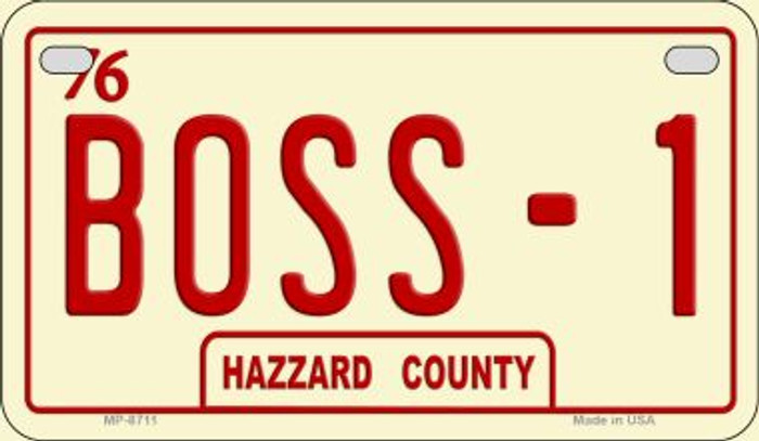 Boss -1 Novelty Metal Motorcycle Plate MP-8711
