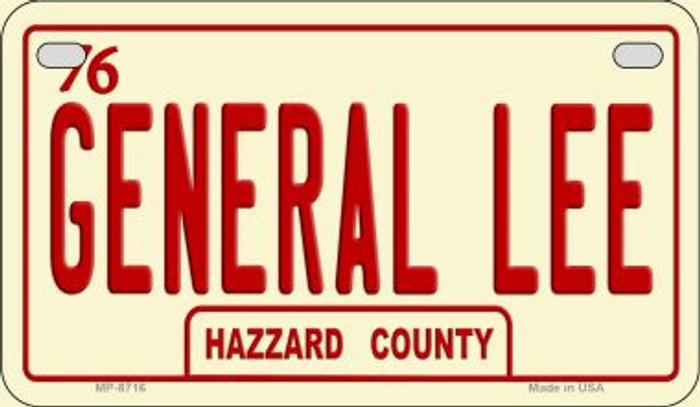 General Lee Hazzard County Novelty Metal Motorcycle Plate MP-8716
