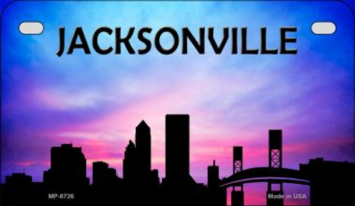 Jacksonville Silhouette Novelty Metal Motorcycle Plate MP-8726