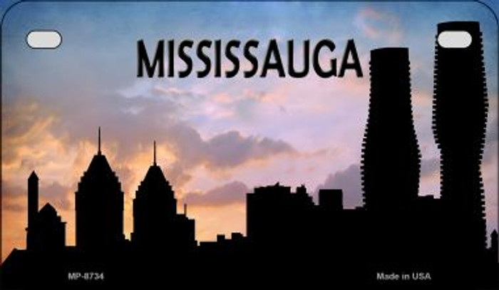 Mississauga Silhouette Novelty Metal Motorcycle Plate MP-8734