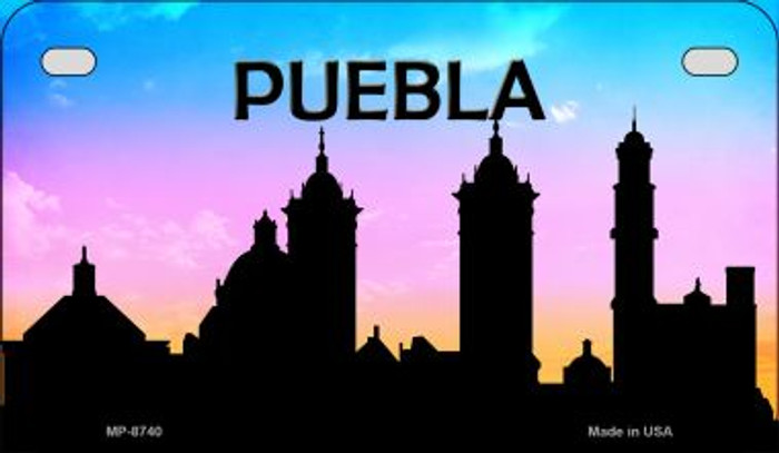 Puebla Silhouette Novelty Metal Motorcycle Plate MP-8740
