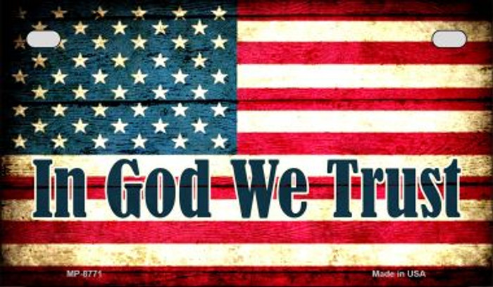 In God We Trust Novelty Metal Motorcycle Plate MP-8771