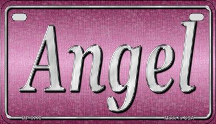Angel Novelty Metal Motorcycle Plate MP-8778