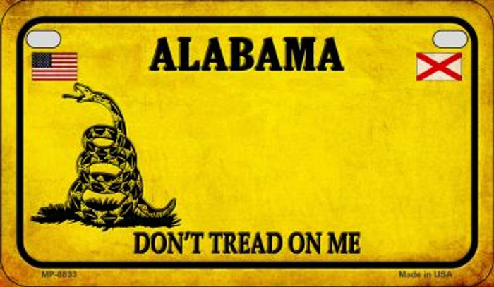 Alabama Do Not Tread Novelty Metal Motorcycle Plate MP-8833