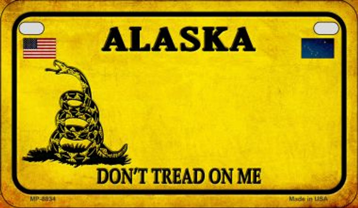 Alaska Do Not Tread Novelty Metal Motorcycle Plate MP-8834