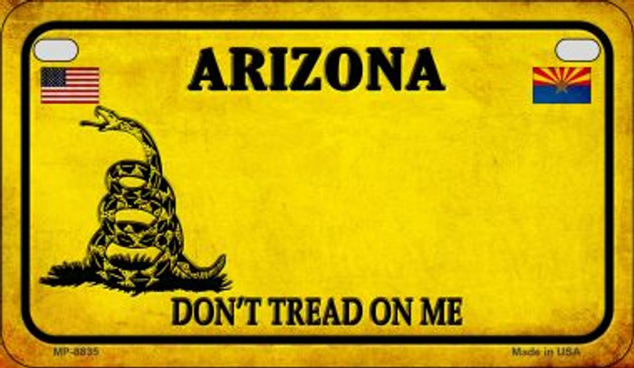 Arizona Do Not Tread Novelty Metal Motorcycle Plate MP-8835