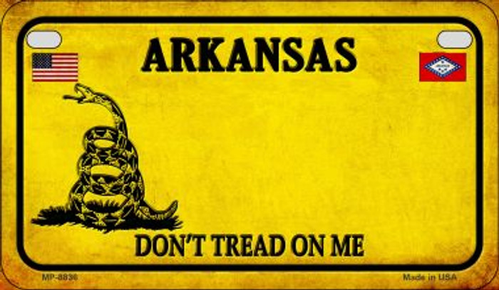 Arkansas Do Not Tread Novelty Metal Motorcycle Plate MP-8836