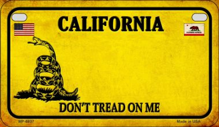 California Do Not Tread Novelty Metal Motorcycle Plate MP-8837