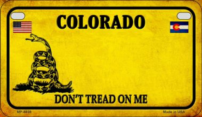 Colorado Do Not Tread Novelty Metal Motorcycle Plate MP-8838